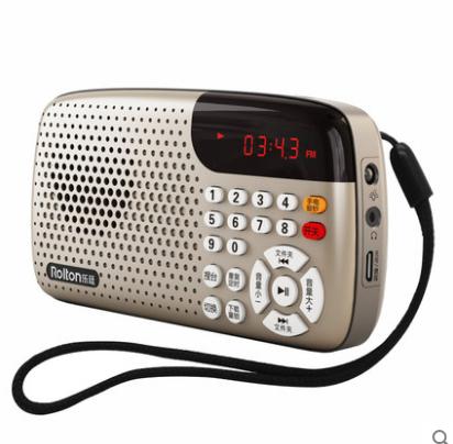 Rolton/乐廷 W105便携式插卡音箱迷你小音响收音机老人晨练听戏机